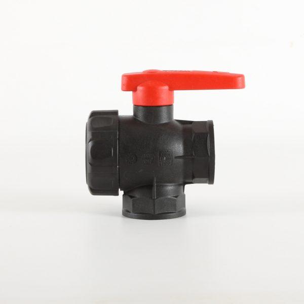 3 way manual ball valve from Ridgeway Sprayers