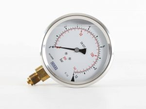 4 inch pressure gauge with 10 bar bottom mounted from Ridgeway Sprayers